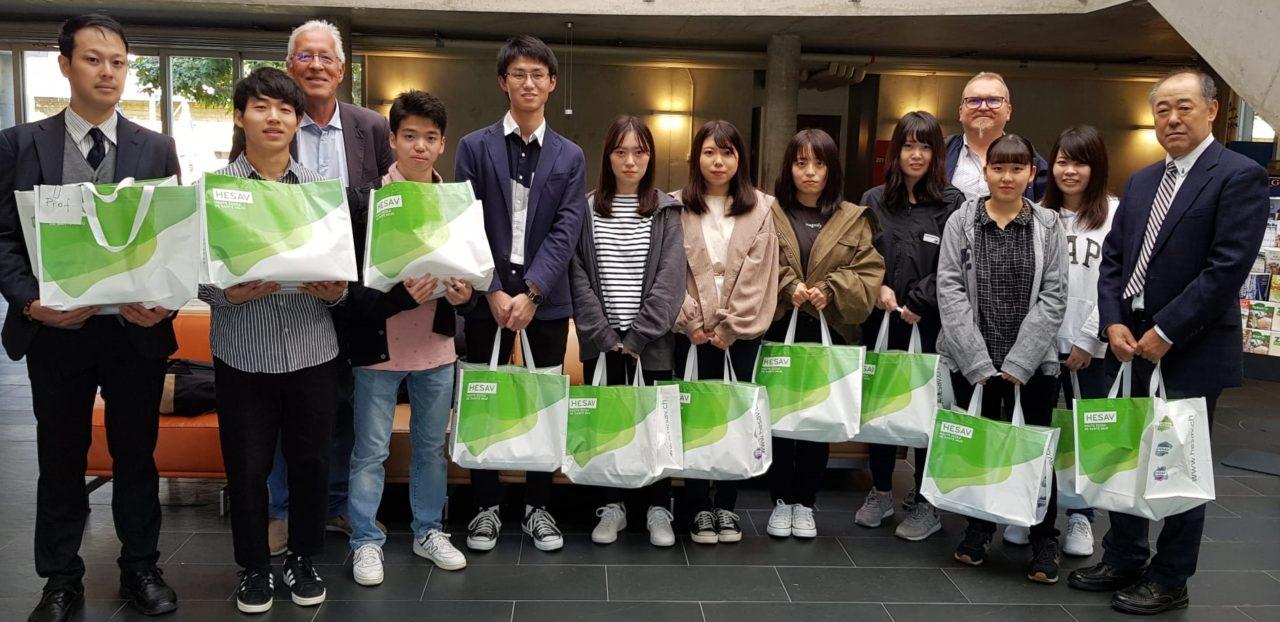 HESAV accueille neuf étudiants venus du Japon