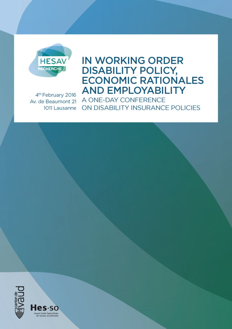 In working order cover page